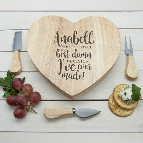 Personalised Valentine's Heart Cheese Board